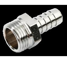 Переходник латунный никелированный 1/2 (папа) - штуцер 10 мм