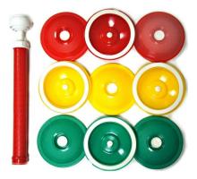 Набор крышек для консервирования с вакуумным насосом (9 шт).