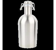 """Бутылка стальная """"Гроулер"""" 1 литр (нержавейка)"""