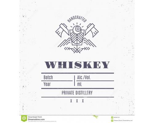 """Наклейка на бутылку Handcrafted """"Виски"""""""