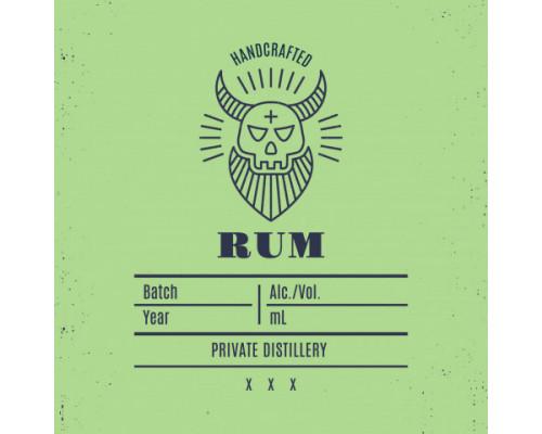 "Наклейка на бутылку Handcrafted ""Rum"""