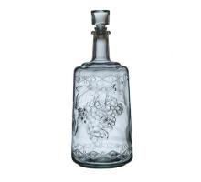 "Бутылка стеклянная ""Традиция"" 1500 мл.,оплетённая листьями кукурузы"