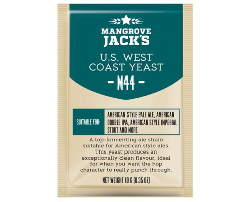 "Пивные дрожжи Mangrove Jack's ""US West Coast M44"", 10 г"