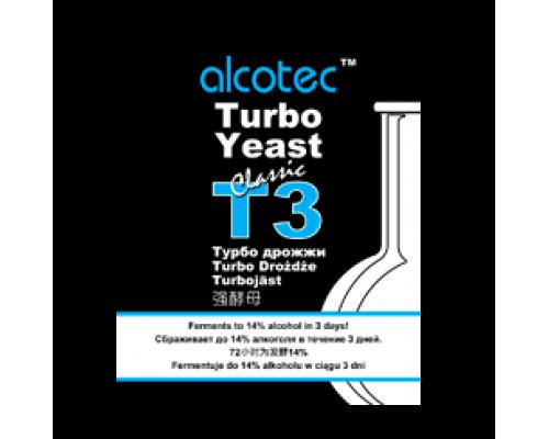 Дрожжи Alcotec  Turbo Yeast T3, 120 гр.