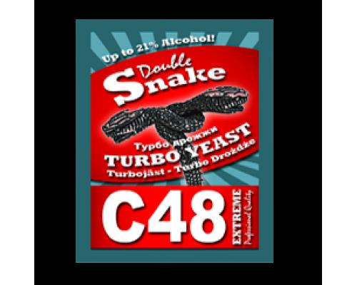 Турбо дрожжи Double Snake C48 Turbo, 130 гр.