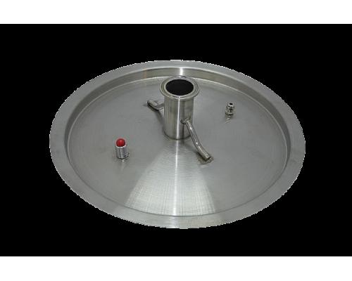 Крышка под кламп 2 ( 50 л.) + ниппель+ клапан сброса давления
