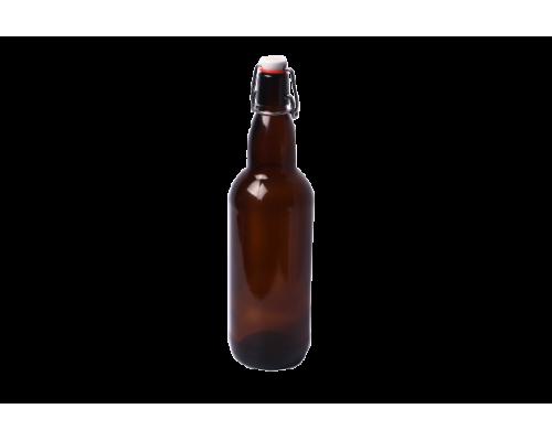 Бутылка под бугельную пробку 1 л (коричневое стекло, без пробки)