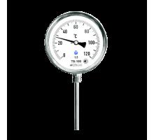 Термометр биметаллический радиальный 0-120°С, стальной корпус, класс точности 1,5