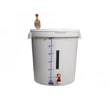 Бак для брожения в сборе: краник, гидрозатвор, полоска мерная, термометр-полоска