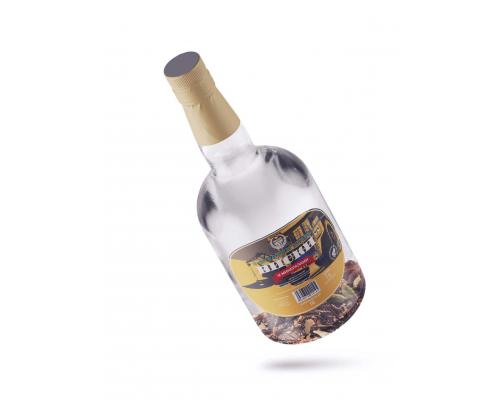 """Бутылка с готовым составом """"Виски с дубовым углем и минералами"""" 1 литр"""