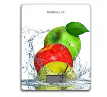 Весы кухонные белые, яблоки (до 5 кг, 195*142 мм) ELX-SK02-С01 ERGOLUX